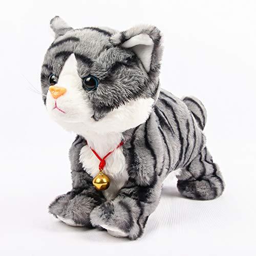 Smalody Robot Cat de peluche electrónico, juguete interactivo, mascotas electrónicas para niños, fiesta de regalo (gris)