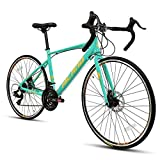 Hiland Road Bike for Women 700c Racing Bike City Commuter Bicycle with Disc-Brake 21 Speeds...