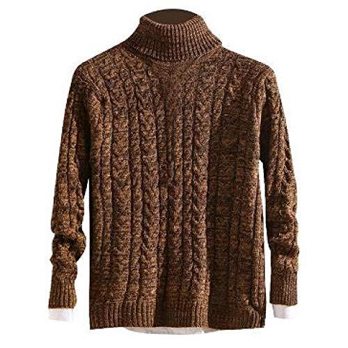 LILIZHAN Herfst Winter Hoge Hals Dikke Warme Trui Mannen Coltrui Merk Truien Slim Fit Trui Knitwear Man Dubbele Kraag
