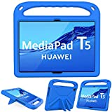 GOZOPO Kompatibel mit Huawei MediaPad T5 Hülle (10,1 Zoll) Tablet [Nicht für Huawei T3 9,6 Zoll] – leicht & stoßfest Handgriff Ständer Kinder Hülle (Blau)