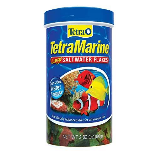Tetra TetraMarine Large Saltwater Flakes, 2.82-Ounce