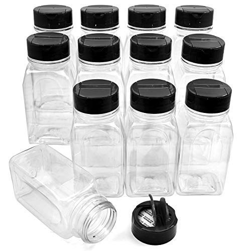 SALUSWARE Plastic Spice Jars Bottles