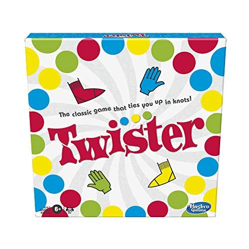 Hasbro Gaming- Juego Twister para niños a Partir de 6 años, Multicolor, 4.1 x 26.6 x 26.6 cm (5010993800070)