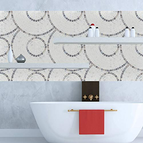 Oumefar Calcomanías de suelo impermeables 10 unids pegatinas de pared antiincrustantes para decoración de baño de cocina, fácil de pegar