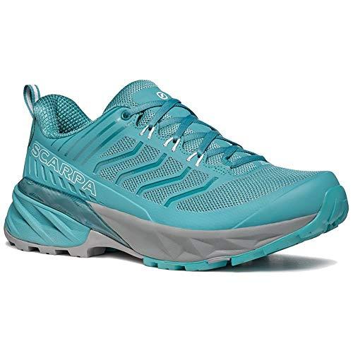 Scarpa Rush WMN, Zapatillas de Trail Running Mujer, Aqua SHC Free-Dome, 40.5 EU