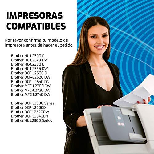 QP2320D 2 Cartuchos de Toner Compatible TN2320 y Brother MFC-L2700DW MFC-L2740DW MFC-L2720DW HL-L2300D HL-L2340DW DCP-L2520DW DCP-L2500D Impresora