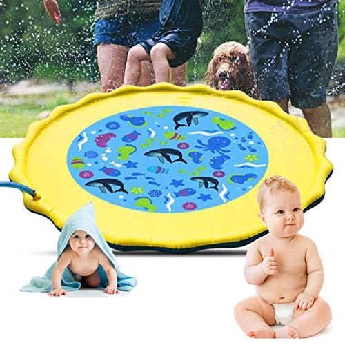 Olaffi Splash Sprinkler Pad Piscina Almohadilla Inflable para niños, Bebé,Juguetes Estera de Agua al Aire Libre