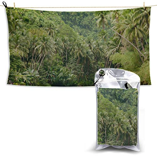 YUMOING Tributaries of Amazon River Camping Quick Dry Towel Microfiber Towels Universal Beach Towel Bath Towel Travel 27.5'' X 51''(70 X 130cm) Best for Gym Travel Camp Yoga Fitnes