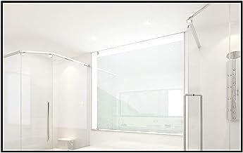 MU Prostokątne szkło akrylowe, czarna metalowa rama lekkie naścienne lusterko do makijażu, przyklejane na lustro, salon sy...