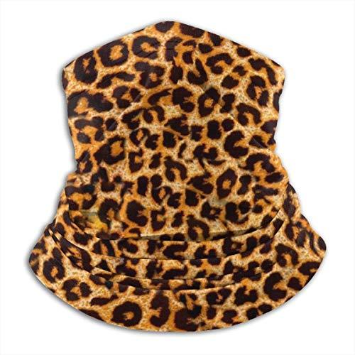 jhgfd7523 Multifuncional Snood calentador al aire libre bufanda cuello pasamontañas para hombres y mujeres Animal Leopard Print