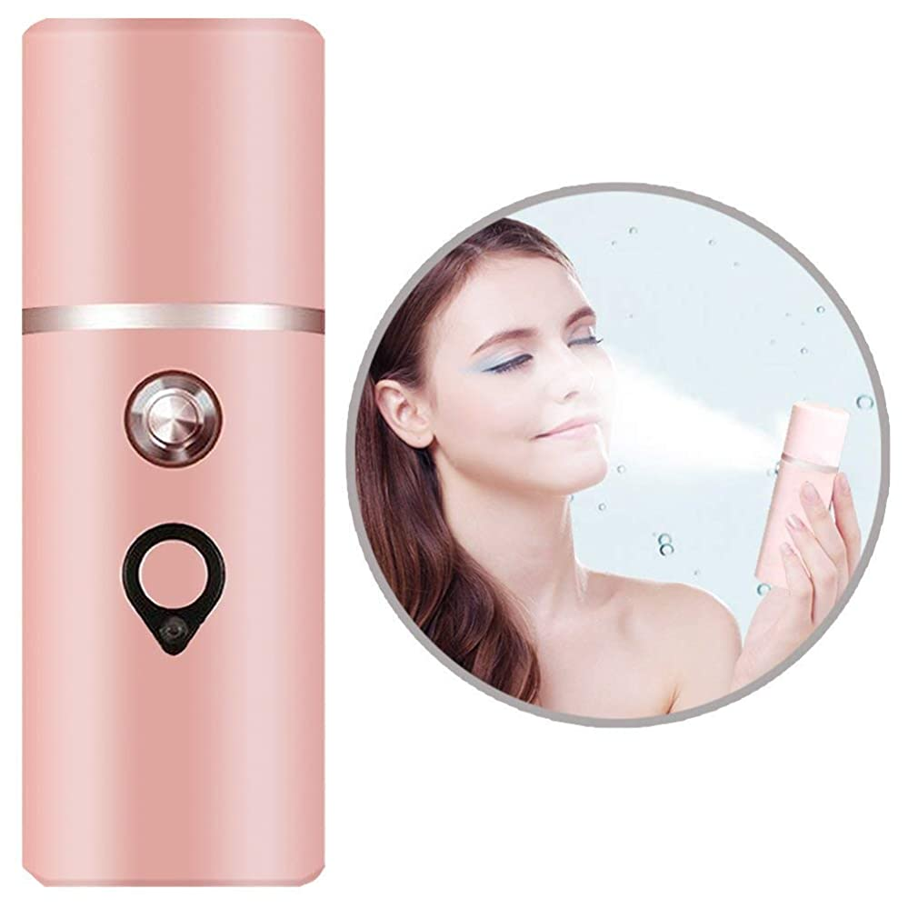デジタル特徴づける受動的ナノミスター、スプレーハンディーフェイシャルミストフェイススプレーヤー美容スキンケアマシン、フェイシャルスチーマー美容スキンケア用品、USB充電式