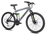 Kent International 26' KZ2600 Full Suspension Mountain Bike, Grey
