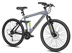 "Aluminum Full Suspension Frame 26"" Tires 21 Speed Front Disc Brake"