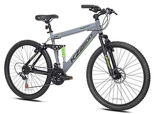 Kent International 26″ KZ2600 Full Suspension Mountain Bike, Grey