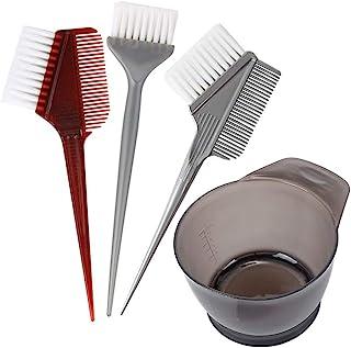 4 PCS Professional Salon Hair Coloring Dyeing Kit 2020 Version Hair Dye Brush and Bowl Set - Dye Brush & Comb/Mixing Bowl/Tint Tool