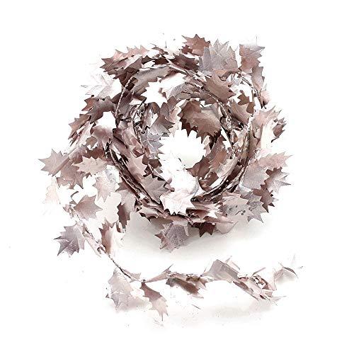 TGG Ilex bladeren slinger roze/goud, 2,75 meter met draad, kunstmatig !! !
