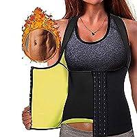 スポーツスウェットガードル、腹部と腰の縮小ガードル、男性女性用の通気性調整可能なネオプレン、スポーツフィットネスジム用 (Color : Black, Size : M)