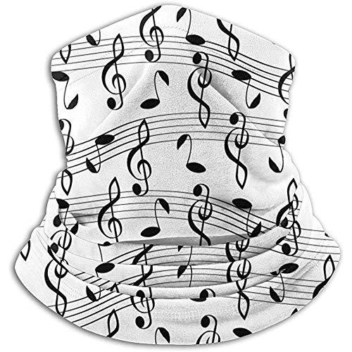 Scaldacollo Fantasia Musicale Con Note Scaldacollo Scaldacollo Unisex Scaldacollo A Cerchio Sciarpe Per Sport Invernali All'Aperto