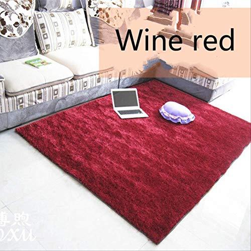 axnx Teppiche Luxusmode-Ausdehnungsgarn-Teppiche, Teppich des Wohnzimmers Der Schlafzimmer-Bett-Teppich, Teppiche.1400 Mm X 2000 Mm Burgund