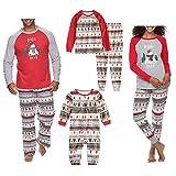 puseky Conjunto de Pijamas a Juego Familiar de Navidad para papá mamá niños...