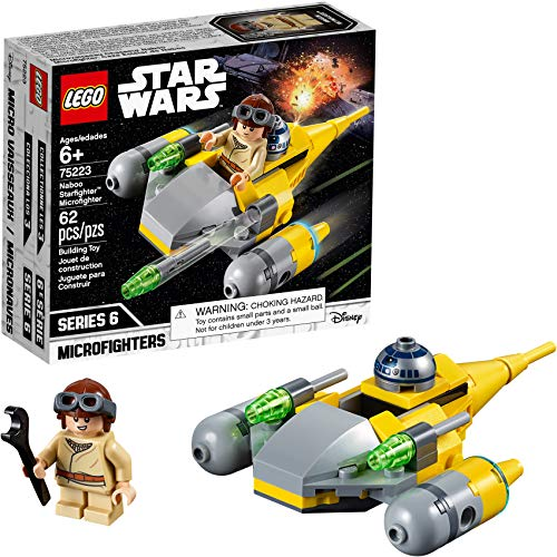 LEGO Star Wars Naboo Starfighter Microfighter 75223 Building Kit (62 Pieces)