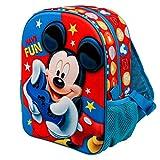 KARACTERMANIA Mickey Mouse Gamer-Mochila 3D (Pequeña), Multicolor