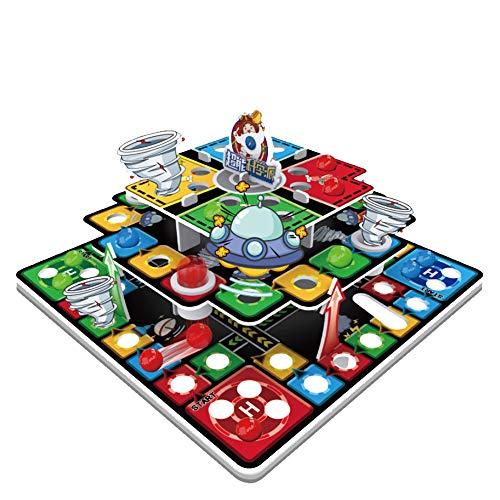 ZED- Schlangen- und Leiterbrettspiel, dreidimensionales Flugbrett, geeignet für Spieler im Alter von 2-6 Jahren, geeignet für Spieler über 4 Jahre