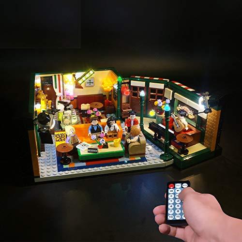 LODIY Jeu De Lumiere LED Kit d'éclairage Lumineux pour Lego 21319 Ideas Friends Central Perk (Lego Modèle Non Incluse) (avec Télécommande)