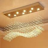 Bxu-bg Moderno LED del rectángulo de la sala K9 lámparas de cristal accesorios ligeros for Cafe Oficina cubierta principal de la lámpara Accesorios (Emitting Color : Warm White)