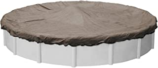 Pool Mate 4328-4-PM Extreme-Mesh Winter Round Above-Ground Pool Cover, 28-ft, 5. XL Taupe