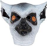 Onlyglobal Erwachsene Verkleidung Kostümparty Kostümspiel Maskerade Wild Dschungeltier mit Kapuze Maske - Lemur, One Size