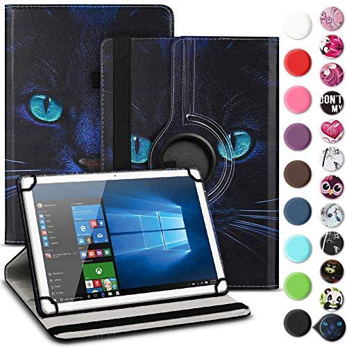 Nauci Tablet Hülle für Xido Z120 Z110 X111 X110 Tasche Schutzhülle Hülle Cover aus Kunstleder Standfunktion 360° Drehbar, Farben:Motiv 8