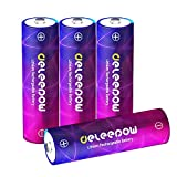 Deleepow AA Rechargeable Batteries, 1.5V High Capacity 3200mWh Lithium Li-ion Rechargeable AA Batteries,1500 Cycle Double A battery,4-Pack(No Include Charger)