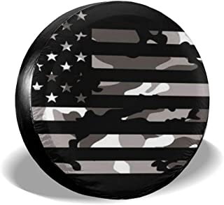 American Tactical Camo Flag Leader Accessories Spare Tire Cover,Waterproof Dust-Proof(Fit 23-32 Inches)