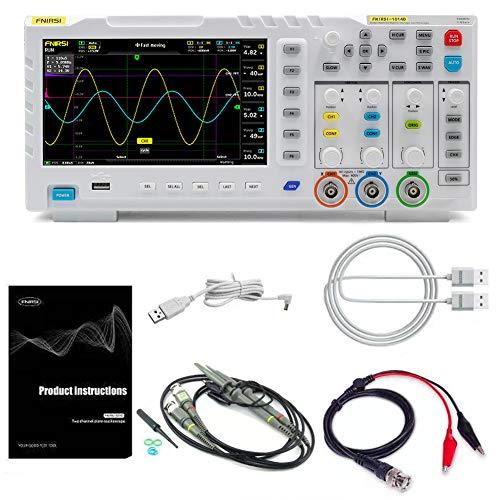 Meroteen Generador de señal de doble canal LCD TFT portátil osciloscopio,100MHz * 2 Ancho de banda ana-log 1GSa / s Tasa de muestreo 1GB Espacio de almacenamiento Osciloscopio multifunción.