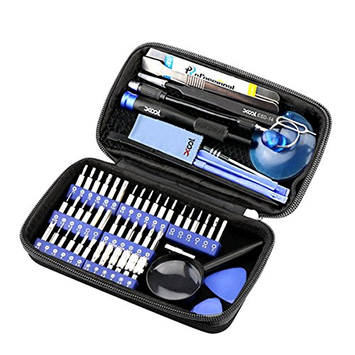 XOOL 58 in 1 Precision Screwdriver Set, Magnetic Driver Kit with 42 Bits,Professional Electronics Repair Tool Kit f with Portable Bag for Repair iPhone, Cell Phone, iPad, PC, MacBook