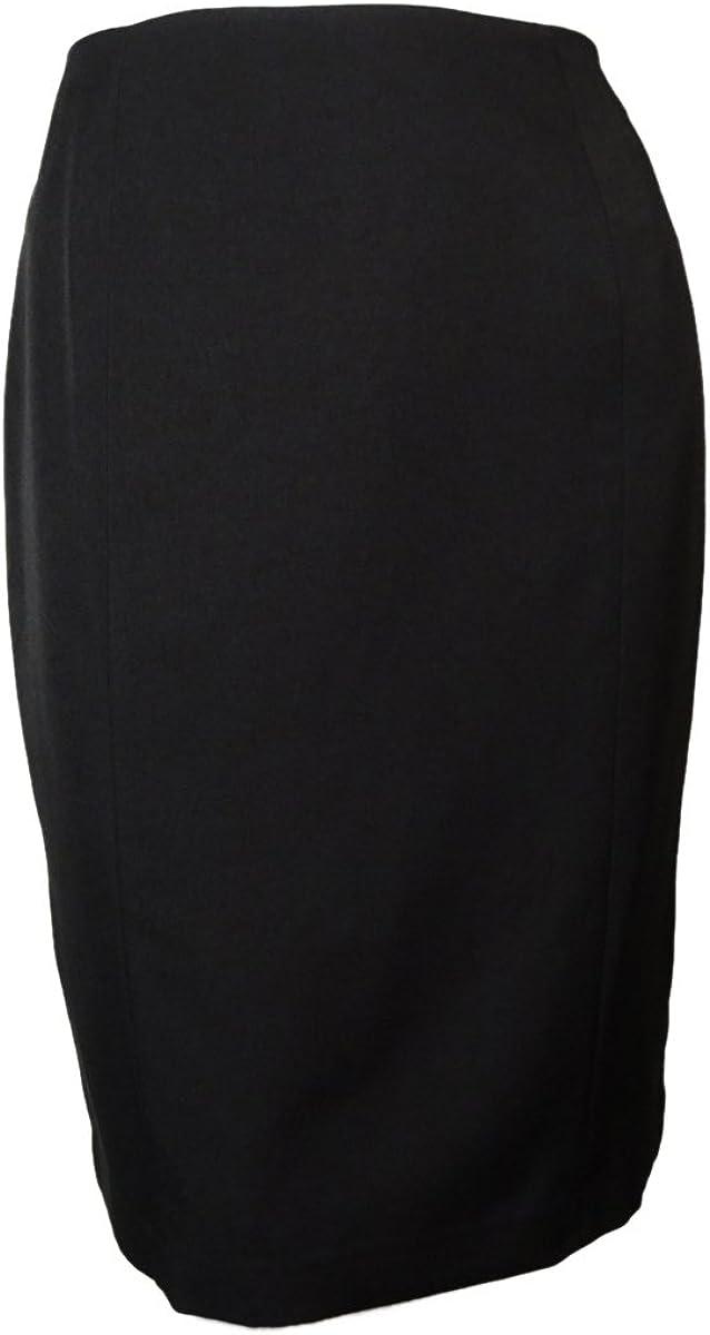 Le Suit Women's Plus Size Side Zip Melange Suit Skirt