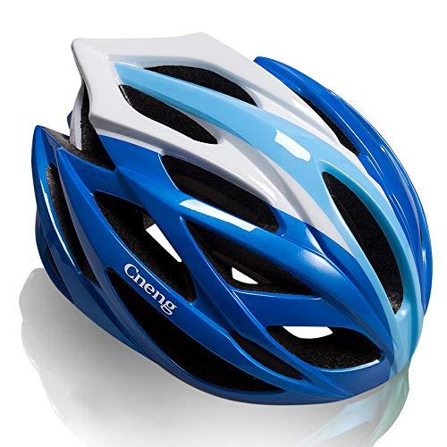 Cneng Bike Helmet for Adult CE and CPSC Certified Bicycle Helmet for Men and Women Lightweight Mountain MTB Bike Helmet Adjustable Unisex Road Cycling Helmet Blue