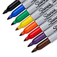 Sharpie Permanent Markers Fine Point Assorted Colors 8.00 ct, 1 pack