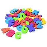 Ruiting36pcs del baño del bebé Letras y números de Seguridad educativos de aprendizaje agua juguetes clásicos
