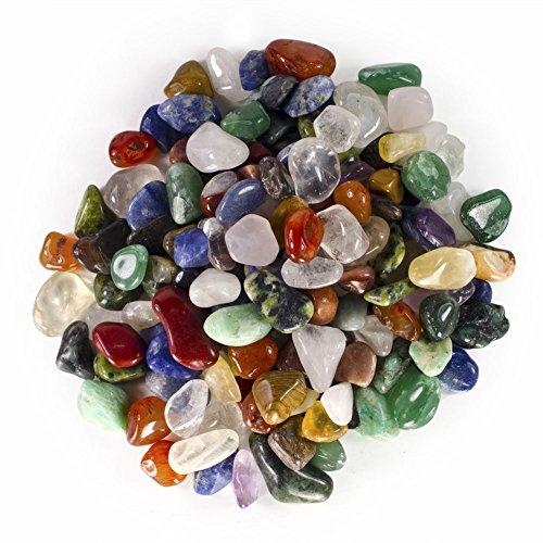 Hypnotic Gems Natural Tumbled Stone Mix - 25 Pcs - Extra Small Size - 0.50