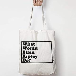 WHAT WOULD ELLEN RIPLEY DO? WWYD bolso tote de lona de algodón natural ALIEN