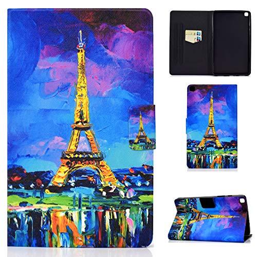 YidaSH es Adecuado para Samsung Galaxy Tab A6 10.1 Pulgadas 2016 Modelo SM-T580 / SM-T585 Modelo Cubierta Protectora Soporte Multiángulo con Ranura para Tarjeta - Torre de París