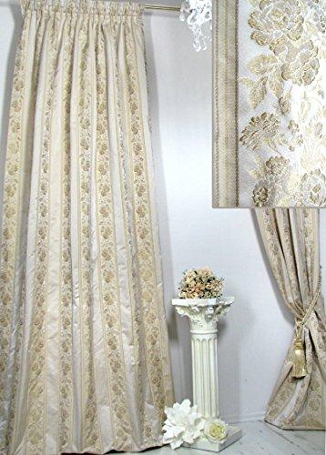 Trendoro 1 Vorhang *Villa Catania Streifen*, plastisch Bestickt, edel & Blickdicht. Ateliergefertigt. Maßanfertigungen möglich!