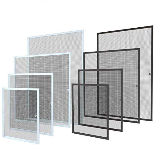 120 x 140 cm Fliegengitter Fenster Insektenschutz Fliegenschutzgitter mückengitter gitter moskitonetz Spannrahmen für Fenster mit Aluminium Rahmen ohne Bohren und Schrauben, Weiß