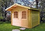 Gartenhaus MICHEL III Gerätehaus Geräteschuppen Holzhaus 320cm x 320cm - 28mm Gartenlaube Holzhaus Holzlaube