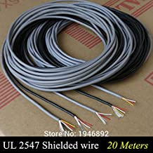   Wires & Cables   20m UL 2547 28/26/24 AWG Multi core Control Cable Copper Wire Shielded Audio Cable Headphone Cable Signal Wire   by HUDITOOLS   1 PCs