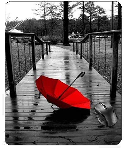 Aventn Landschaftsmuster rot Regenschirm Symbol Mauspad