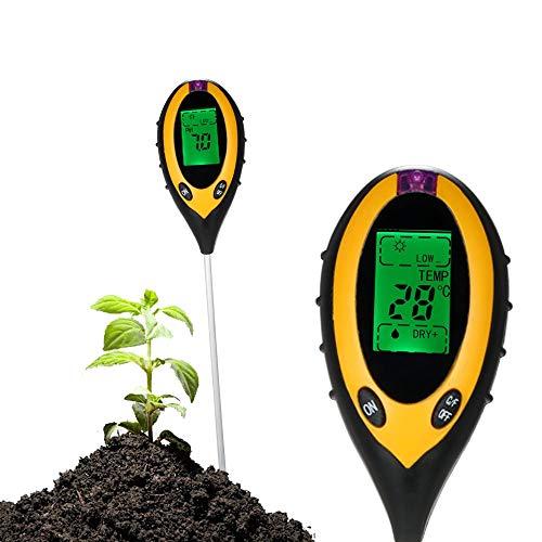 Sailout 土壌テスター デジタル土壌酸度計4-in-1土壌酸度 照度 水分含有量 温度測定 PHテスター