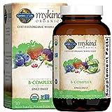 Garden of Life Mykind Organics Vitamin Once Daily, Vegan B Complex Vitamins with Folate, B12, Niacin, B6, Biotin, Organic Whole Food B Complex Supplement for Metabolism, Energy,Blend 1, 30 Count